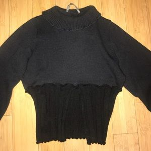 Cora Kemperman Turtleneck Cropped Sweater Size S
